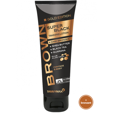 BROWN SUPER BLACK GOLD EDITION - BRONZING LOTION