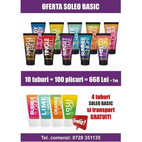 Oferta Soleo Basic - 4 Tuburi gratis